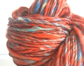 CLEARANCE - Handspun Merino Tencel textured ArtYarn - 122 yards