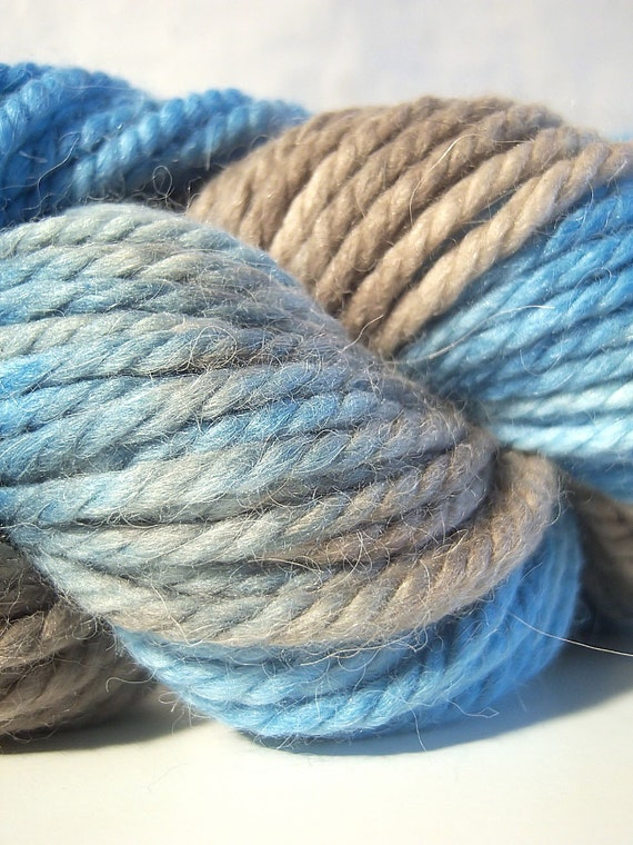 SUMMER SALE Salina - HandPainted Alpaca Merino Silk Super Bulky Yarn - 100 grams 60 yards