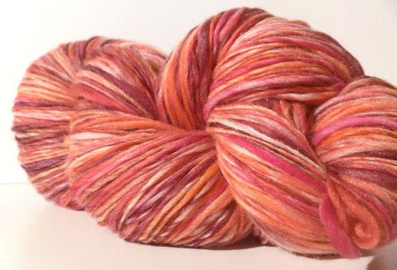 Fall Sale - Valentina - Handspun Hand Dyed Merino Silk 50/50 Fingering Yarn - 509 yards- Buy 3 and get FREE SHIPPING