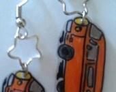 VW Van shrinky dink earrings