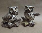 Pair of Homco Vintage Owls