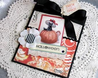 Halloween Trick or Treat Handmade Card