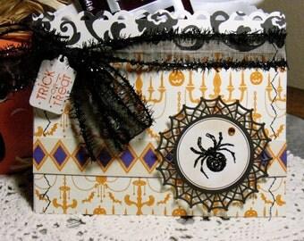 Trick or Treat Bag Candy Pocket Halloween Black Spider