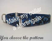 1 inch Martingale Collar, Greyhound Martingale Collar, You Choose the Pattern