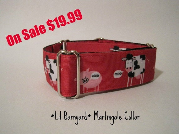 Cow Martingale Collar, Greyhound Martingale, Martingale Dog Collar, FREE SHIPPING, Cow Martingale Collar