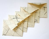 Mini vintage map envelopes