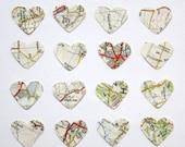 Vintage map confetti
