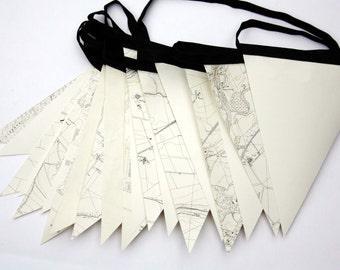 Vintage map bunting - 6m