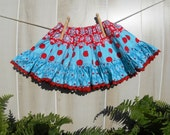 Girl's Twirly  Flouncy Tiered Skirt Size 3 Toddler Childrens Clothing Sample Sale