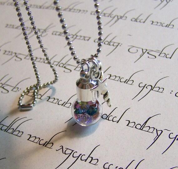 Crystal Jewels Glass Globe Necklace