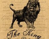 The Lion King     wild animal lions savannah king forest crown royal iron transfer download for fabric handbag napkins pillow Sheet n.766