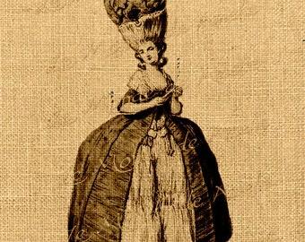 Versaille   antoinette royal paris france vintage romantic large image fabric download gift tag burlap label napkins pillow Sheet n.365
