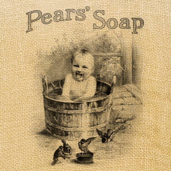 Items similar to pears soap vintage baby bathroom wash for Vintage bathroom printables
