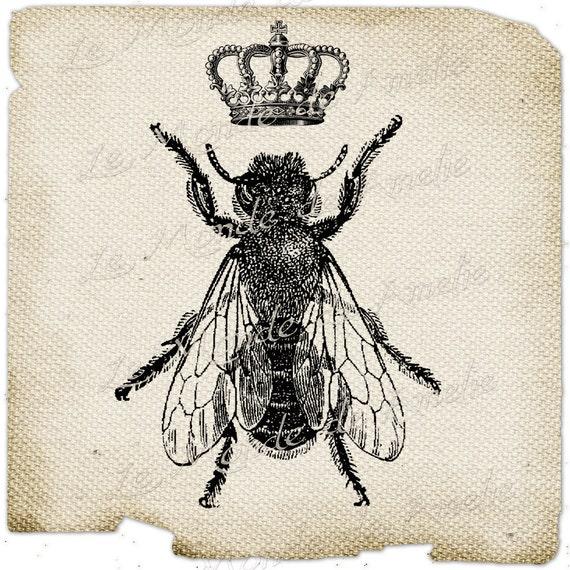 The Queen Bee paris france fleur de lys crown vintage