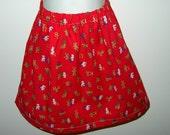 Custom sized Red School Alphabet Pillowcase Skirt Size 12 months to 7