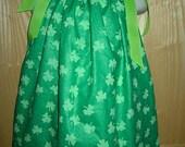St. Patrick's Day SHAMROCK Pillowcase Dress Sz 12 m - 8