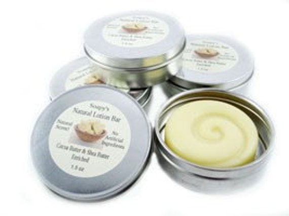 All Natural Cocoa Butter & Shea Lotion Bar