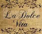 INSTANT DOWNLOAD La Dolce Vita - Download and Print - Image Transfer - Digital Sheet by Room29 Sheet no. 463