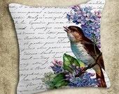 INSTANT DOWNLOAD Bird on Calligraphy Vintage Illustration - Download and Print - Image Transfer - Digital Sheet by Room29 Sheet no. 540