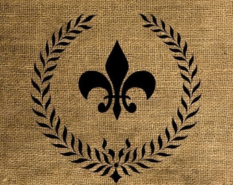 Instant Download Fleur De Lis - Image Transfer for Tote Bags, Pillows, Tea Towels and More - Digital Sheet by Room29 - Sheet no. 037