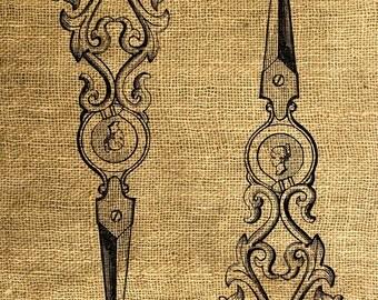 INSTANT DOWNLOAD - Scissors Vintage Illustration - Download and Print - Image Transfer - Digital Collage Sheet by Room29 - Sheet no. 161
