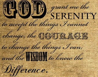 INSTANT DOWNLOAD - God Grant Me The Serenity Download and Print Image Transfer Digital Sheet by Room29 Sheet no. 231