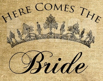 INSTANT DOWNLOAD Here Comes The Bride - Download and Print - Image Transfer - Digital Sheet by Room29 - Sheet no. 425