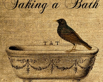 INSTANT DOWNLOAD - Taking a Bath - Download and Print - Image Transfer - Digital Sheet by Room29 - Sheet no. 454