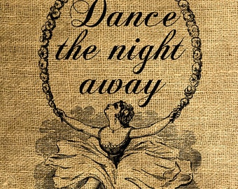 INSTANT DOWNLOAD Dance the night away Vintage Illustration - Download and Print - Image Transfer - Digital Sheet by Room29 Sheet no. 560