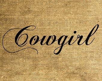 INSTANT DOWNLOAD Cowgirl - Download and Print - Image Transfer - Digital Sheet by Room29 - Sheet no. 580
