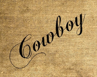 INSTANT DOWNLOAD Cowboy - Download and Print - Image Transfer - Digital Sheet by Room29 - Sheet no. 581