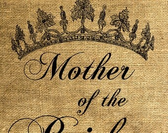 INSTANT DOWNLOAD Mother of the Bride Tiara - Download and Print - Image Transfer - Digital Sheet by Room29 - Sheet no. 596