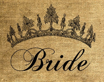 INSTANT DOWNLOAD Bride Tiara - Download and Print - Image Transfer - Digital Sheet by Room29 - Sheet no. 597
