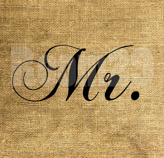 INSTANT DOWNLOAD Mr. - Download and Print - Image Transfer for Tote Bags, Pillows and More - Digital Sheet by Room29 - Sheet no. 321