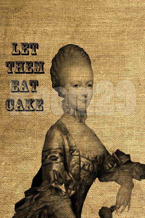 INSTANT DOWNLOAD Marie Antoinette - Let Them Eat Cake - Download and Print - Image Transfer - Digital Sheet by Room29 - Sheet no. 437