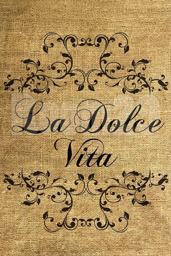 Téléchargement immédiat La Dolce Vita - télécharger et imprimer - transfert d'Image - numérique feuille par feuille Room29 no 463