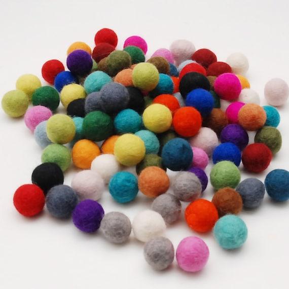 Felt Balls- 50 count 2cm Wool Felt Ball Mix