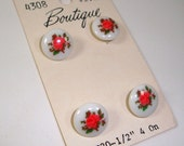 Vintage Buttons Rose