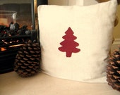 Shabby / Country Chic Christmas Tree Cushion Cover