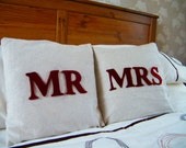 Shabby Chic Mr and Mrs Cushions (Two)