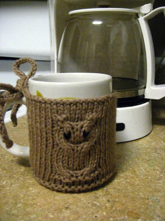 Cable Owl Coffee Mug Coozie