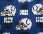 Indianapolis Colts Xs, S, Med, Lg, Dog Bandana Tie on Reversible Embroidered