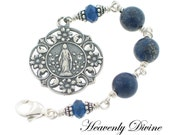 Lapis Sterling Silver Three Hail Mary Devotional Chaplet