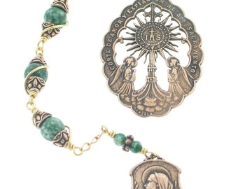 Three Hail Mary Devotion Chaplet with the Blessed Sacrament Medal