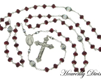 Handmade Wire Wrapped Divine Mercy Rosary Chaplet