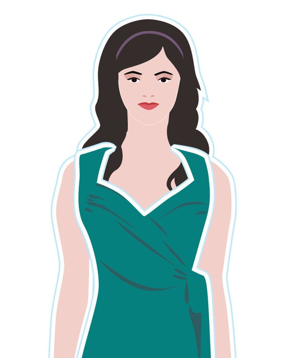 Turquoise Jersey Paper Doll Dress