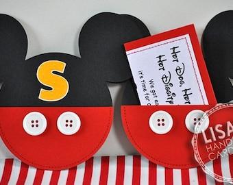 Custom Mickey Mouse Birthday Invitations Handmade by Lisa