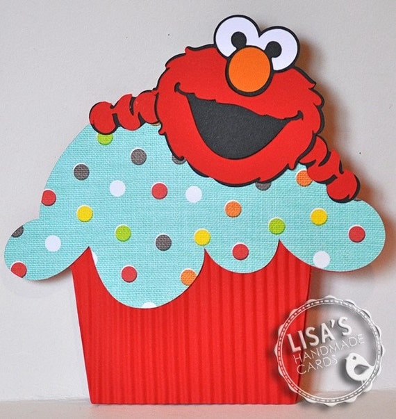 RESERVED for AKWilliams20- Custom Elmo Birthday Invitations Handmade by Lisa