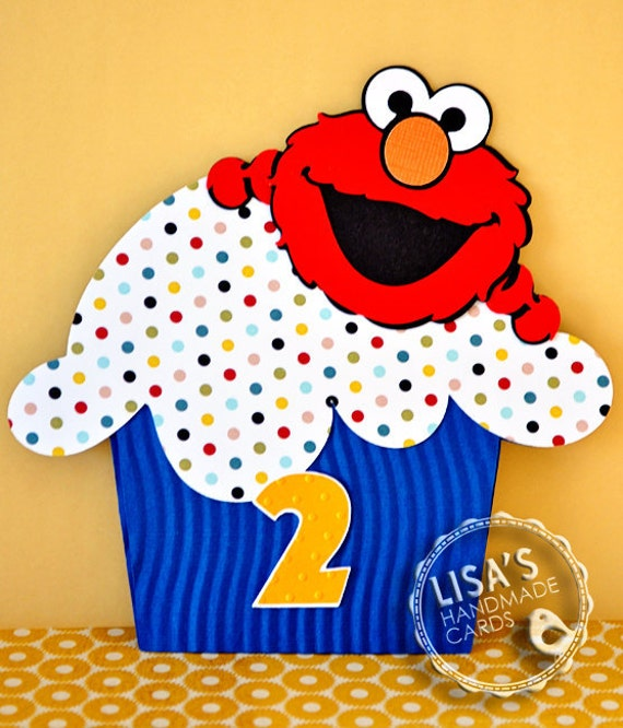RESERVED FOR Hina- Custom Elmo Birthday Invitations Handmade by Lisa
