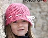 Dark Pink Girls Spring Bucket Hat